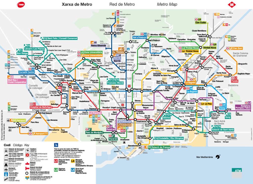 La Mappa della Metro di Barcellona